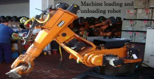 machine loading and unloading robot
