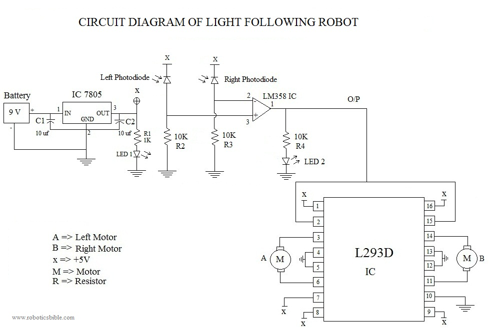 light following robot without microcontroller robotics bible projects news books