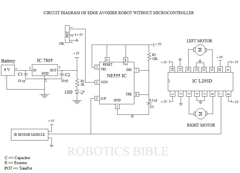 edge avoider robot without microcontroller robotics bible rh roboticsbible com