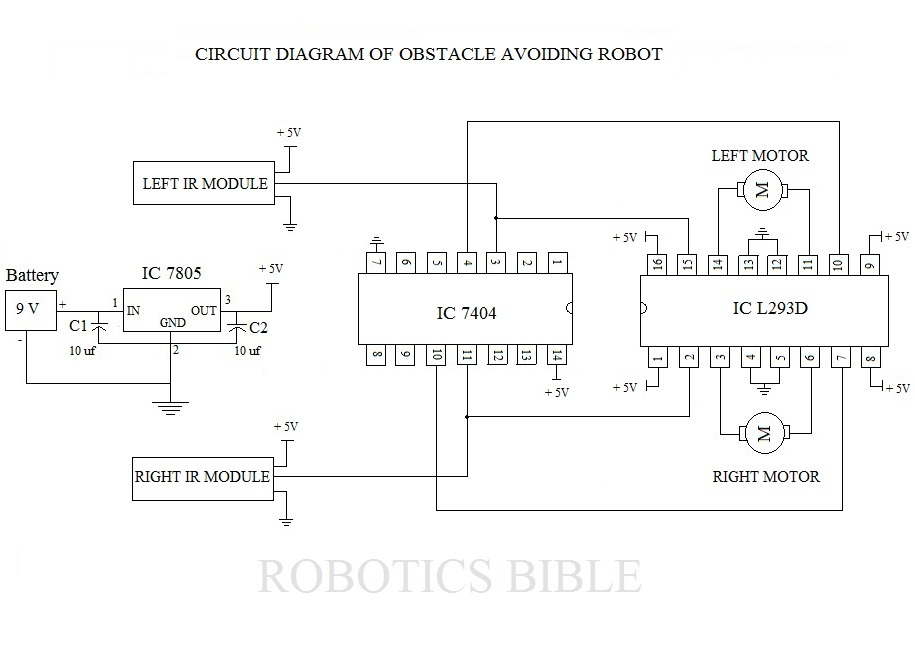 obstacle avoiding robot without microcontroller robotics bible projects news books
