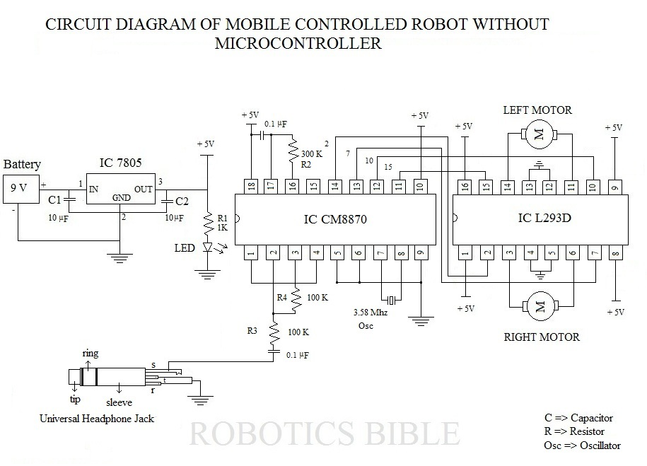 circuit of mobile robot without microcontroller mobile controlled robot without microcontroller robotics bible  at readyjetset.co
